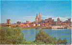 Click here to enlarge image and see more about item p1599: Cincinnati OH Skyline Postcard