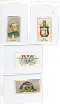 Click here to enlarge image and see more about item p16006: Will's Cigarette Cards-Misc-Lot (4)