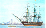 Click here to enlarge image and see more about item p16015: USS Constitution, Turn Around Cruise Postcard