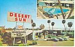 Click here to enlarge image and see more about item p16051: Desert Sun Motel, Phoenix,AZ, Postcard Vintage Cars