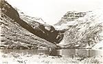 Click here to enlarge image and see more about item p1605: Gunsight Lake MT Real Photo Postcard