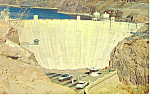 Click here to enlarge image and see more about item p16060: Boulder Dam AZ NV  Postcard p16060 1964 Cars 50s