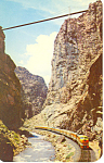 Denver Rio Grande Train in Royal Gorge Postcard p16067