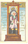 Click here to enlarge image and see more about item p16102: New Years Card Postcard 1912 p16102