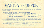 Click here to enlarge image and see more about item p16107: Capital Coffee Trade Card