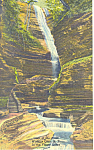 Glen of the Pools Watkins Glen NY Postcard p16146
