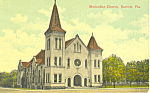 Methodist Church, Bartow, FL Postcard