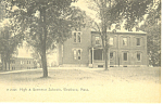Click here to enlarge image and see more about item p16168: High and Grammer Schools Westboro MA  Postcard p16168