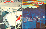 Click here to enlarge image and see more about item p16186: Greetings from Hoover Dam  Postcard 1976