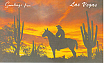 Click here to enlarge image and see more about item p16200: Desert Sunset, Las Vegas, NV  Postcard