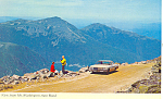 View From Mt Washington Auto Road, NH Postcard