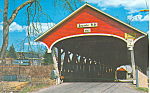 Click here to enlarge image and see more about item p16216: Covered Bridge, Lancaster,NH Postcard 1975