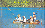 Hillbilly Motor Boatin Postcard 1973