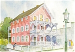 Cape May NJ Pink House Postcard