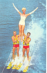 Click here to enlarge image and see more about item p16228: Adagio Act at Cypress Gardens FL Postcard p16228