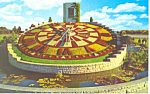 Click here to enlarge image and see more about item p16255: Ontario Hydro Flower Clock Postcard