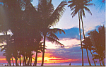 Click here to enlarge image and see more about item p16275: Hawaiian Sunset Postcard
