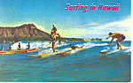 Surfing at Waikiki Beach Hawaii  Postcard p16282