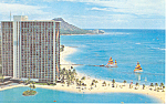Click here to enlarge image and see more about item p16283: Hilton Hawaiian Village Hawaii  Postcard