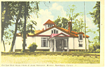 Sam Slick House,Windsor Nova Scotia Postcard 1951
