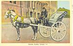 Caleche, Quebec, Canada Postcard 1941