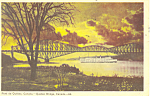 Quebec Bridge, Pont de Quebec Postcard 1951