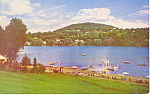 Lac Rond and Beach, Ste Adele en Haut Quebec Postcard