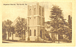 Baptist Church, Norberth PA Postcard