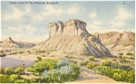 Montana Badlands Castle Butte Postcard