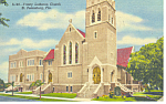 Lutheran Church, St Petersburg, FL Postcard 1955