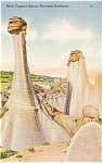 Click here to enlarge image and see more about item p1635: Montana Badlands Rock Spires Postcard