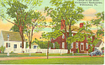 Wythe House, Willamsburg, VA Postcard 1952