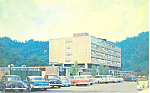 Click here to enlarge image and see more about item p16386: Harlan Memorial Hospital, Harlan, KY Postcard cars 50s