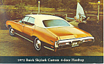 Click here to enlarge image and see more about item p16387: 1972 Buick Skylark Custom Hardtop Postcard