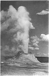 Click here to enlarge image and see more about item p1642: Castle Geyser Yellowstone Photo