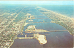 Aerial View Daytona Beach Florida Postcard p16433