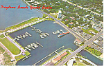 Yacht Basin Daytona Beach Florida Postcard p16439