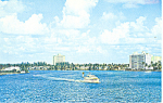 Inland Waterway,Ft Lauderdale ,Florida  Postcard