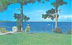 Placid Scene on Lake Placid FL Postcard p16454