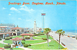 Daytona Beach FL and Oceanfront Park Postcard p16472