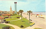 Daytona Beach FL and Lookout Tower Postcard p16473