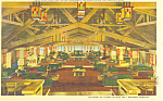 Canyon Hotel Interior Yellowstone National Park WY Postcard p16487
