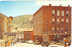 Click here to enlarge image and see more about item p16497: Eureka St., Central City,CO Postcard Old Cars