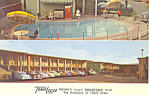 Click here to enlarge image and see more about item p16517a: Travelodge,Fresno, CA Postcard Cars 50s