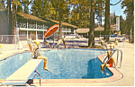 Click here to enlarge image and see more about item p16530: Russell 'n Pines Motel,Tahoe City, CA Postcard