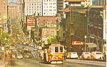 Click here to enlarge image and see more about item p16536: San Francisco Cable Car on California Street Postcard