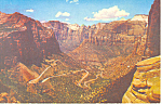 Switchbacks Zion National Park UT Postcard p16544