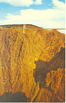 Click here to enlarge image and see more about item p16555: Royal Gorge Suspension Bridge CO Postcard p16555