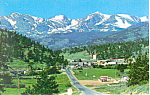 Estes Park Rocky Mountain National Park CO Postcard p16574
