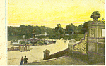 Terrace and Lake, Central Park,NY Postcard